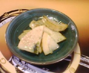 タケノコのバジルソテー