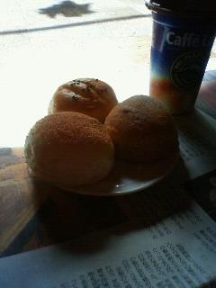 パンのある朝。