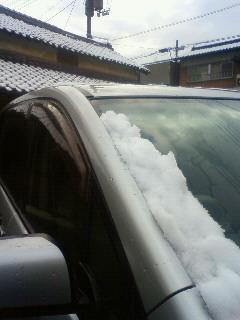 雪を乗せて・・・