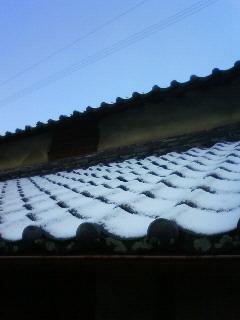 うっすらと雪景色
